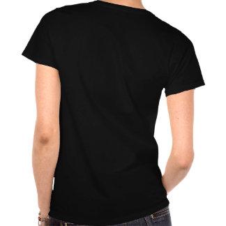 La camiseta de manga corta de las mujeres - negro