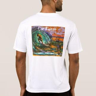 La camiseta de manga corta de los hombres feroces