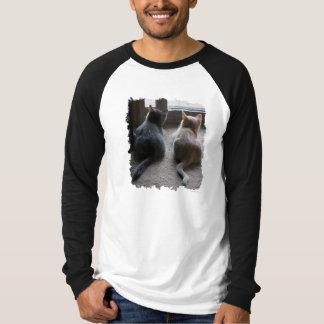 La camiseta de manga larga de los hombres del polera