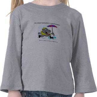 La camiseta de mi del hipopótamo niño del anuncio