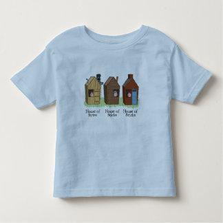 La camiseta de tres pequeños niños de los cerdos playera de niño