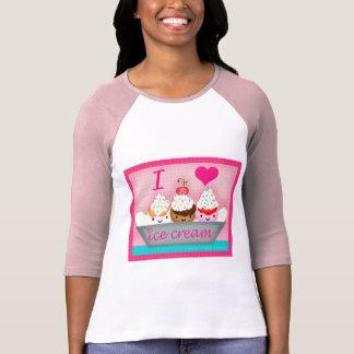 La camiseta del amante del helado de Kawaii Playeras