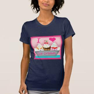 La camiseta del amante del helado de Kawaii Remera