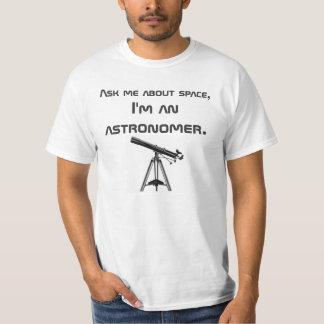 La camiseta del astrónomo playeras