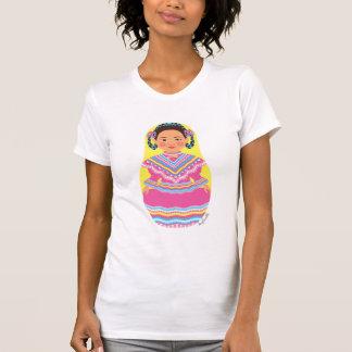 La camiseta del bailarín de las mujeres mexicanas