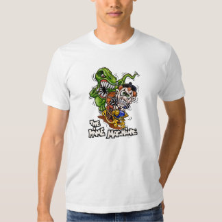 La camiseta del blanco de la máquina del Mime Playera