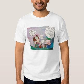 La camiseta del blanco del Stealer del cerdo Polera