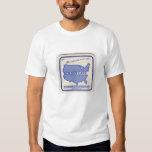 La camiseta del café de la frontera de playera