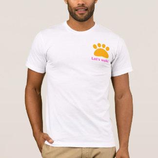 La camiseta del caminante del perro