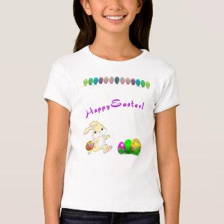 La camiseta del chica de conejito de pascua camisas