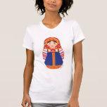 La camiseta del chica de las mujeres rusas de Matr