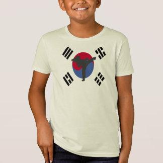 La camiseta del chica del aviador del Taekwondo