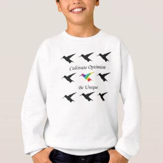 """La camiseta del colibrí """"cultiva optimismo """""""