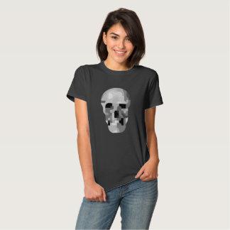 la camiseta del cráneo de las mujeres abstractas playeras
