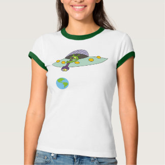 La camiseta del dibujo animado de las mujeres playeras