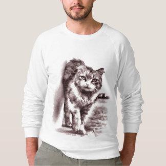 La camiseta del dibujo de los hombres adorables sudadera