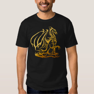 La camiseta del dragón del oro remeras