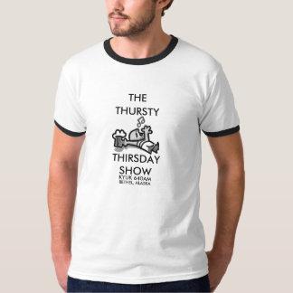 La camiseta del funcionario de la demostración de