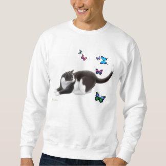 La camiseta del gato de la mariposa