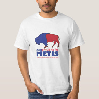 La camiseta del hombre del búfalo de Metis
