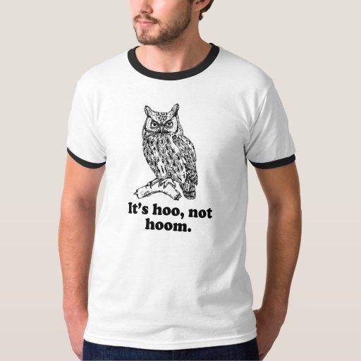 La camiseta del hoom de Hoo del búho de la Camisas