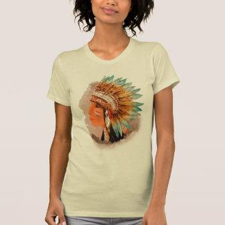 La camiseta del indio del nativo americano de las