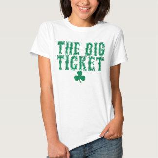 La camiseta del lujo de las mujeres verdes de remeras