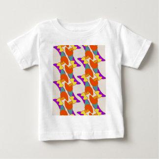 La camiseta del niño abstracto anaranjado playeras