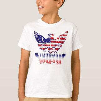 La camiseta del niño americano del orgullo playera