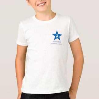 La camiseta del niño de la conciencia de la