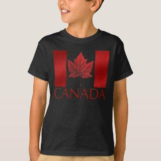La camiseta del niño de la hoja de arce de la camisas