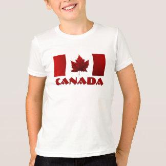 La camiseta del niño de la hoja de arce del camisas