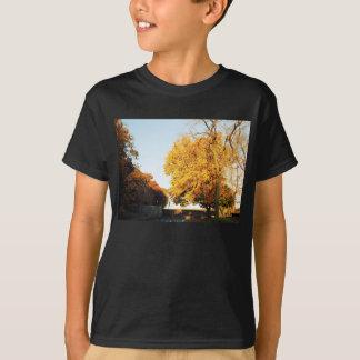 La camiseta del niño de la puesta del sol de la poleras