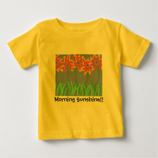 """La camiseta del niño de la sol de la mañana"" Playera"