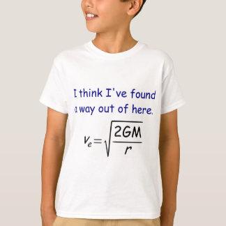 La camiseta del niño de la velocidad de escape