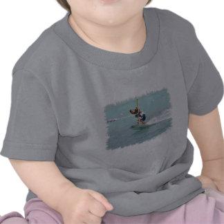 La camiseta del niño de la vuelta de Wakeboarding