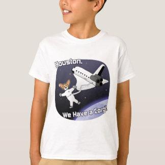 La camiseta del niño de los Corgis del espacio Playera