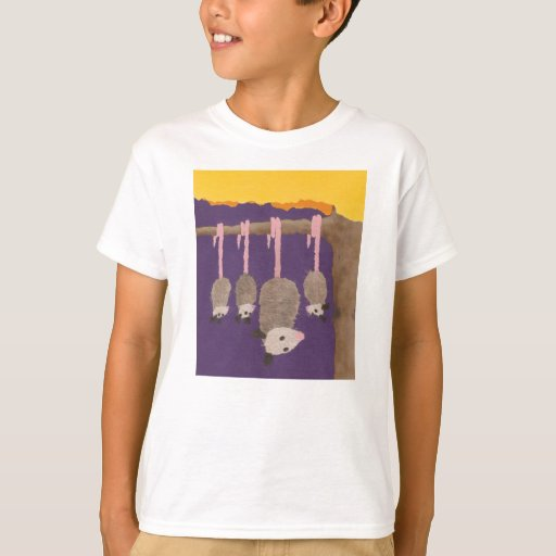 """La camiseta del niño de los """"oposums"""""""