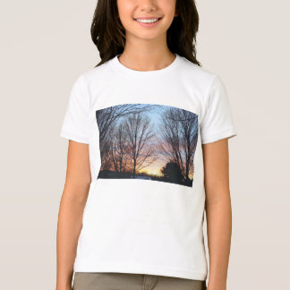 La camiseta del niño del cielo de diciembre polera