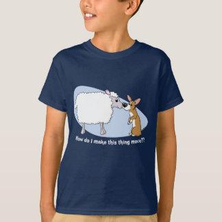 La camiseta del niño del Corgi y de las ovejas Poleras