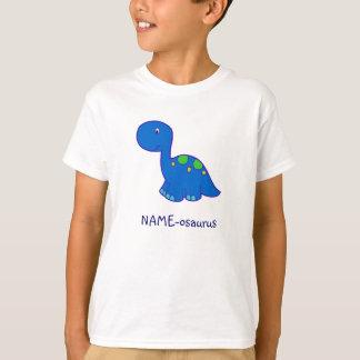 La camiseta del niño del Nombre-osaurus del