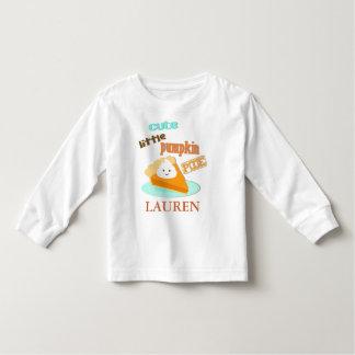 La camiseta del niño del pastel de calabaza