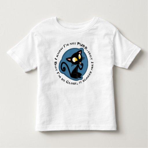 La camiseta del niño del Ronroneo-fect
