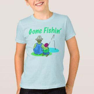 La camiseta del niño ido de Fishin Playeras