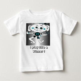 """la camiseta del niño """"que juego como un ganador """" playeras"""