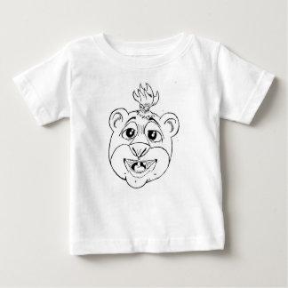 La camiseta del niño soñoliento del oso playeras