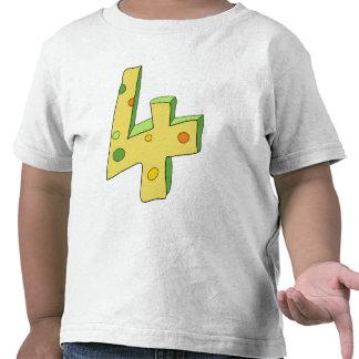 La camiseta del niño verde del polo 4