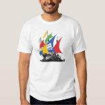 La camiseta del pirata de los hombres de Google Remeras