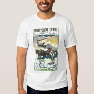 La camiseta del poster de la película del vintage playeras