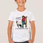 La camiseta del rodeo del tipo del cordero